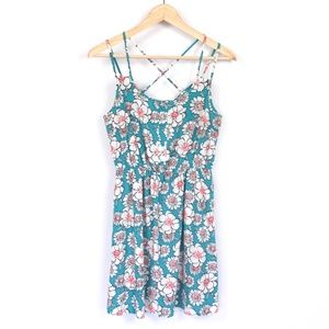 Floral Strappy Dress {Forever 21}